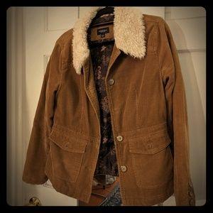 SONOMA Vintage Corduroy Fur Jacket Size S